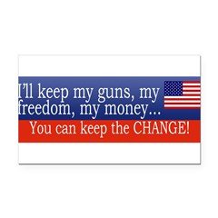 Keep the Change Rectangle Car Magnet