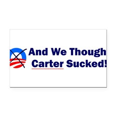 Anti-Obama Rectangle Car Magnet