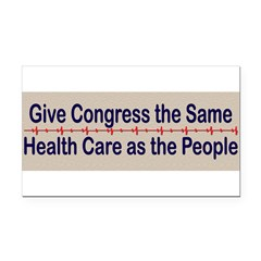 Give Congress Healthcare Rectangle Car Magnet
