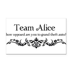 Team Alice Theft Rectangle Car Magnet