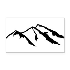 Mountains Rectangle Car Magnet