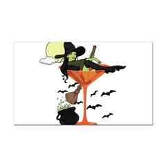 Halloween Martini Girl Rectangle Car Magnet
