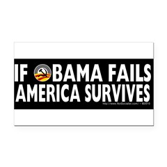Anti-Obama Obama Fails America Survives Rectangle Car Magnet