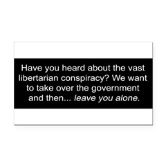 Libertarian Conspiracy Rectangle Car Magnet
