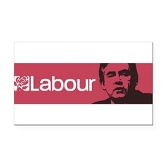 Gordon Brown Labour Party Rectangle Car Magnet