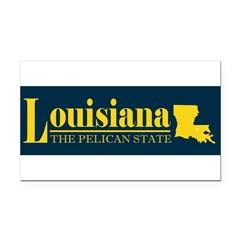 Louisiana Gold Rectangle Car Magnet