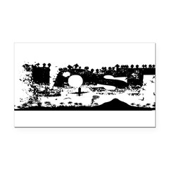 Lost Island White Rectangle Car Magnet