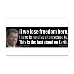 If we lose freedom here... Rectangle Car Magnet