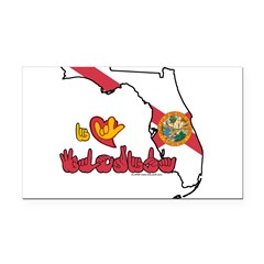 ILY Florida Rectangle Car Magnet