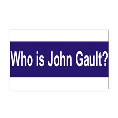 Who is John Gault? Rectangle Car Magnet