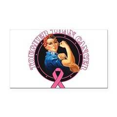Tougher Than Breast Cancer Ro Rectangle Car Magnet