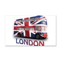 London Bus with Union Jack an Rectangle Car Magnet