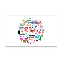 Twilight Memories Rectangle Car Magnet