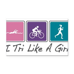 Tri Like A Girl Triathlete Rectangle Car Magnet