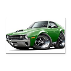 1970 AMX Green Car Rectangle Car Magnet