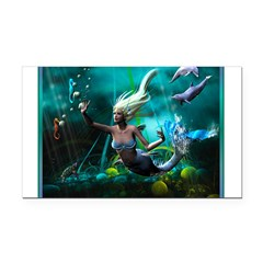 Best Seller Merrow Mermaid Rectangle Car Magnet