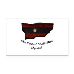 the Central Shall Rise Again Rectangle Car Magnet