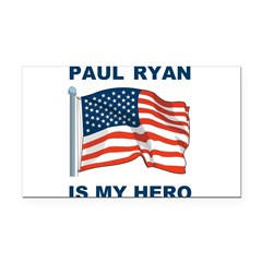 Paul Ryan is my Hero! Rectangle Car Magnet