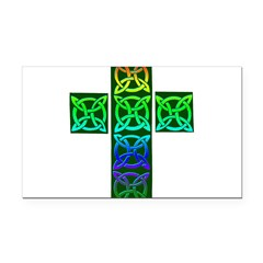 Glowing Celtic Cross Rectangle Car Magnet