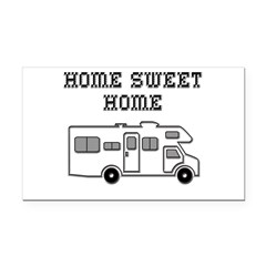 Home Sweet Home Mini Motorhome Rectangle Car Magnet