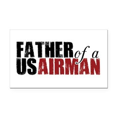 Father of a US Airman - Rectangle Car Magnet