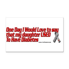 daughter used red Rectangle Car Magnet