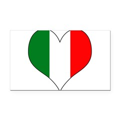 Italy Heart Rectangle Car Magnet