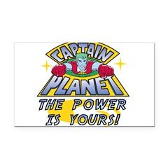 Captain Planet Power Rectangle Car Magnet