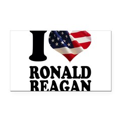 I heart American Flag Ronald Rectangle Car Magnet