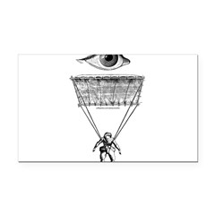 I Parachute Skydiver Rectangle Car Magnet