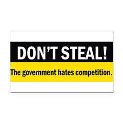 Don't Steal Rectangle Car Magnet