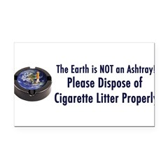 ashtray2 Rectangle Car Magnet