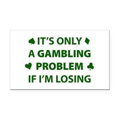 Gambling Problem Rectangle Car Magnet