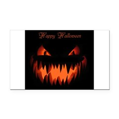 Happy Halloween Pumpkin Rectangle Car Magnet