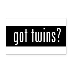 got twins? Rectangle Car Magnet