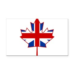 UK Maple Rectangle Car Magnet