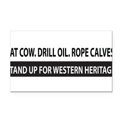 Bumper Sticker - Western Heritage Rectangle Car Magnet