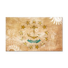 Rhode Island Flag Rectangle Car Magnet