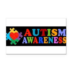 Autism Awareness Rectangle Car Magnet