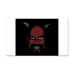 Devil Rectangle Car Magnet
