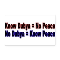 No Dubya Rectangle Car Magnet