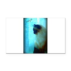 DollyCat Atmosphere - Ragdoll Cat - Rectangle Car Magnet
