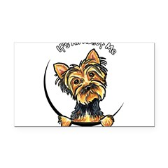 Yorkie IAAM Rectangle Car Magnet