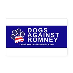 Official Dogs Against Romney Paw Rectangle Car Magnet