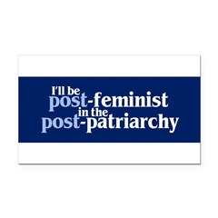 POST-FEMINIST Rectangle Car Magnet