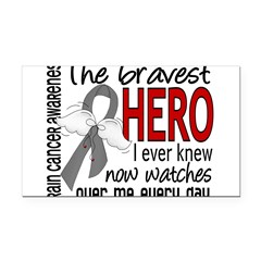 Bravest Hero I Knew Brain Cancer Rectangle Car Magnet