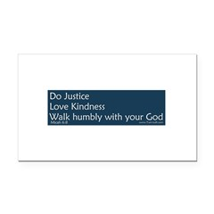 Bumper Sticker - Micah 6:8 Rectangle Car Magnet