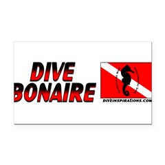 Dive Bonaire (red) Rectangle Car Magnet