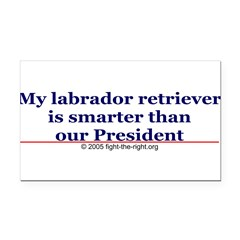 My labrador retriever is smarter (bumper sticker) Rectangle Car Magnet