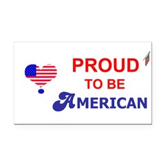 PROUD TO BE AMERICAN Rectangle Car Magnet